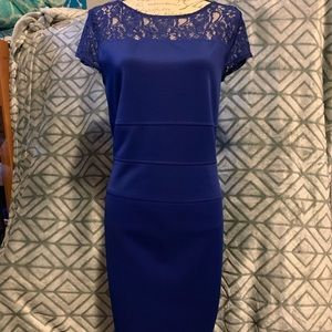 Metaphor Blue Dress Size 14 Lace